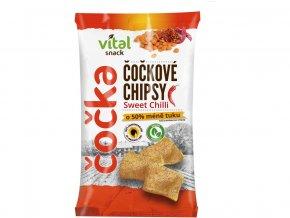 Chipsy čočkové sweet chilli 65g