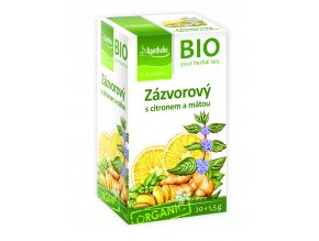 Bio Zázvor s citronem a mátou čaj 20x1,5g