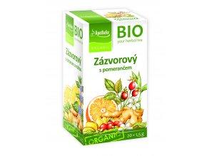 Bio Zázvorový čaj s pomerančem 20x1,5g