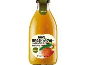 Šťáva 100% broskvovo-jablková 0,75l