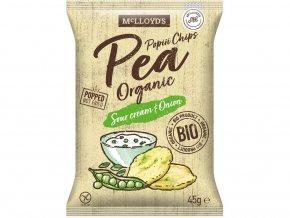 Bio popiii chips Pea (hrášek) sour cream onion 45g