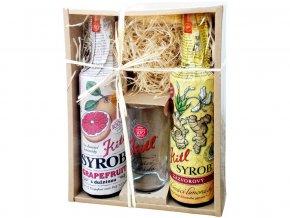 Syrob dárkové balení (2x500ml+sklenička) grapefruit a zázvor