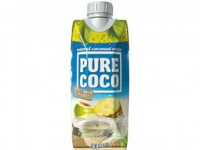 Pure Coco 100% kokosová voda - ananas, min. trv. 17.1.2018