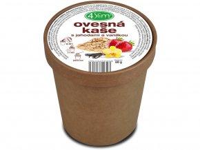 Ovesná kaše s jahodami a vanilkou 60g