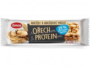 AKCE - Tyčinka s ořechem a proteinem - arašídy a arašídové máslo 40g, Min. trv.24.8.2020