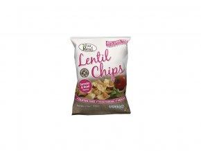 Čočkové chipsy – rajče a bazalka 40g