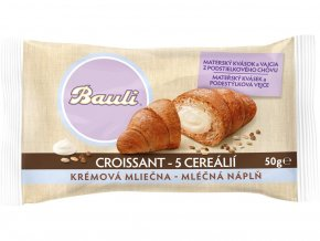 Croissant Bauli 5 cereálií mléčná náplň 50g