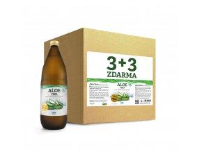 Aloe vera 100% šťáva premium quality, 6x1000ml AKCE 3+3