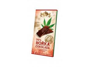 Hořká čokoláda s konopným semínkem 80g