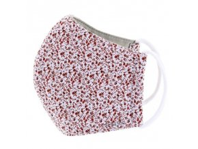 Rouška textilní, 3 vrstvá, nano membrána, antibakteriální vel. M květiny