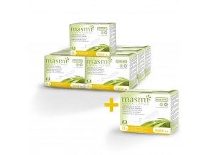 Ultratenké vložky Masmi z organické bavlny ultra day s křidélky, 10 ks  AKCE 7+1