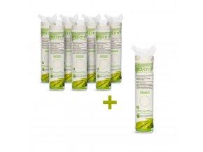 Kosmetické vatové polštářky z organické bavlny Masmi 80 ks AKCE 7+1