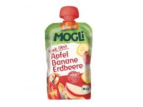 Bio Ovocné pyré Moothie jablko banán jahoda bez cukru 100g