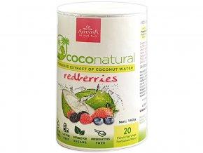 Coco natural 140g Tubus Redberries mix - instantní kokosová voda