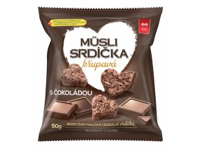 Musli srdíčka křupavá s čokoládou 50g