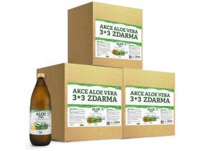 Aloe vera 100% šťáva premium quality 3 kartony (18x1000ml) výhodná cena