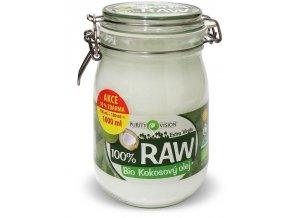 Bio 100% RAW kokosový olej ve skle 900ml+100ml