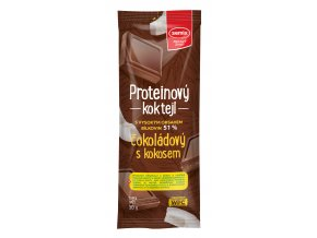Proteinový koktejl čokoládový s kokosem 30g