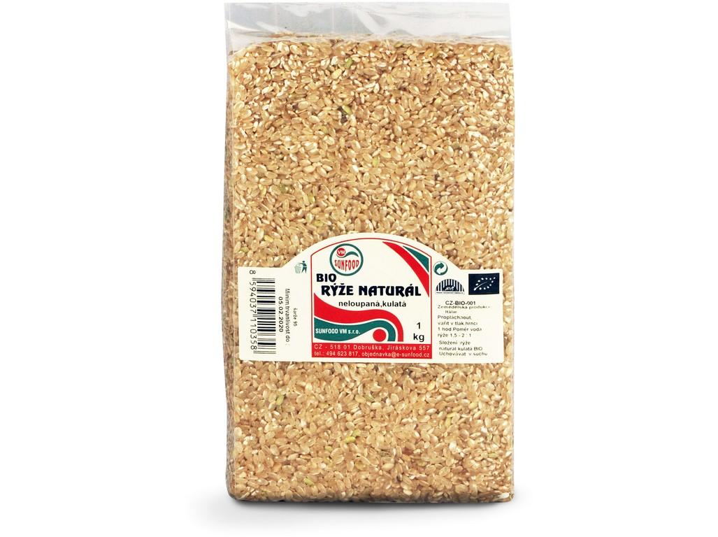 Sunfood Rýže natural krátká BIO 1 kg vakum