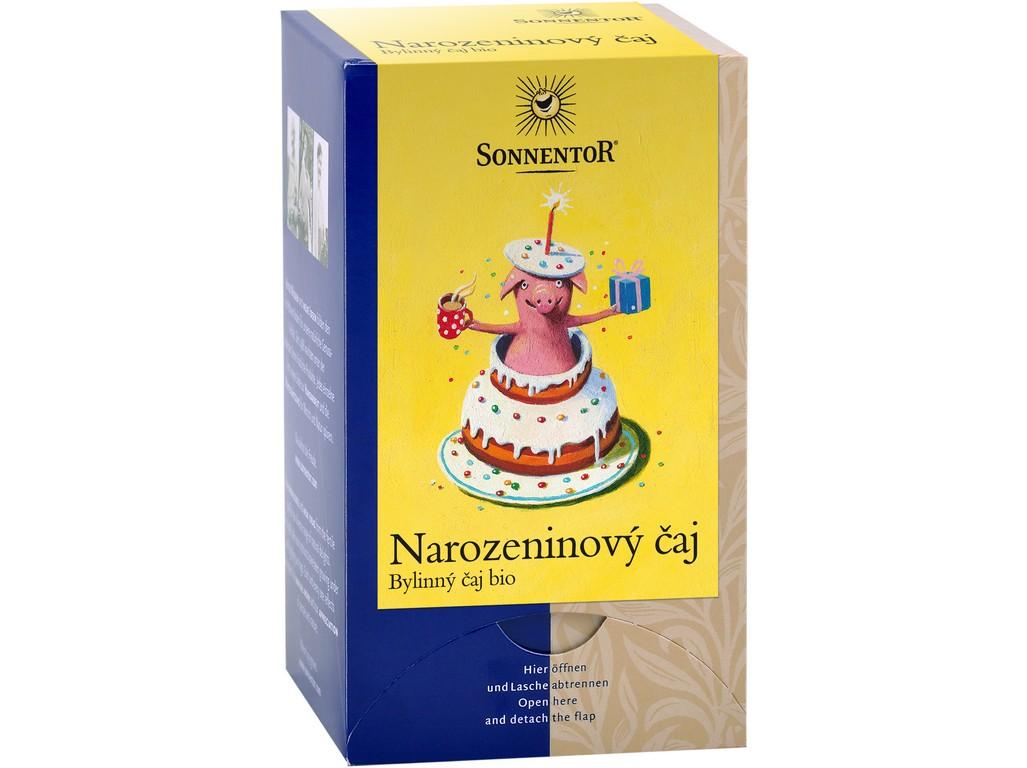 SONNENTOR Bio Narozeninový čaj 27 g dvoukomorový