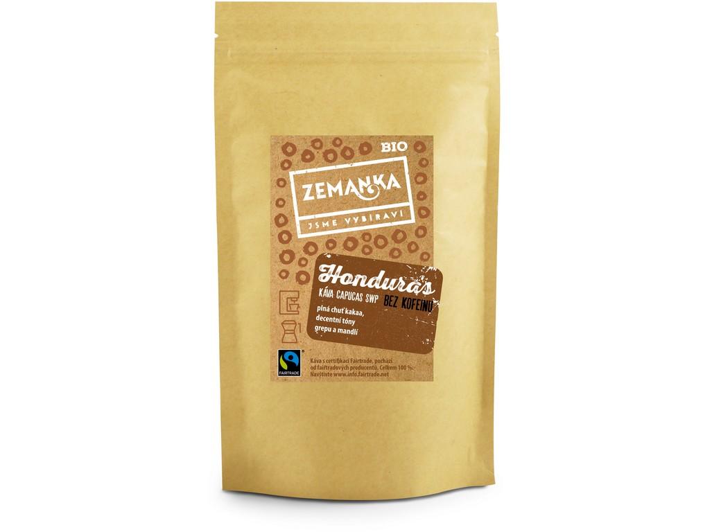 Biopekárna Zemanka Bio káva bez kofeinu Honduras Capucas SWP 250 g - zrnková káva