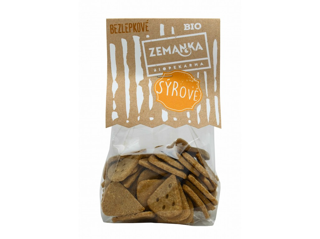 Biopekárna Zemanka Bio Bezlepkové sýrové 100g