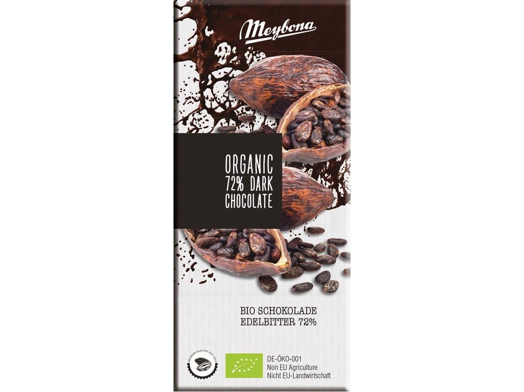 Meybona Bio Čokoláda hořká 72% 100g