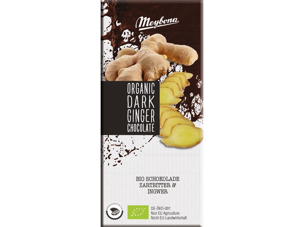 Meybona Bio Čokoláda hořká se zázvorem 52% 100g
