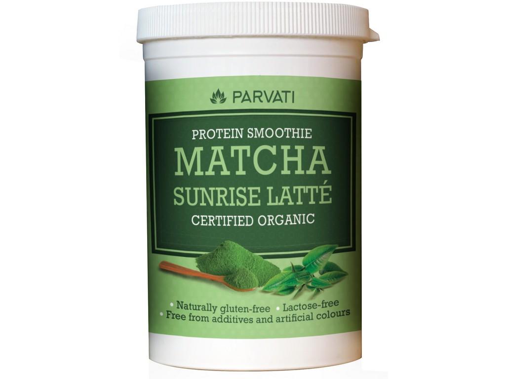 Parvati Bio Proteinový nápoj Matcha Sunrise 160g