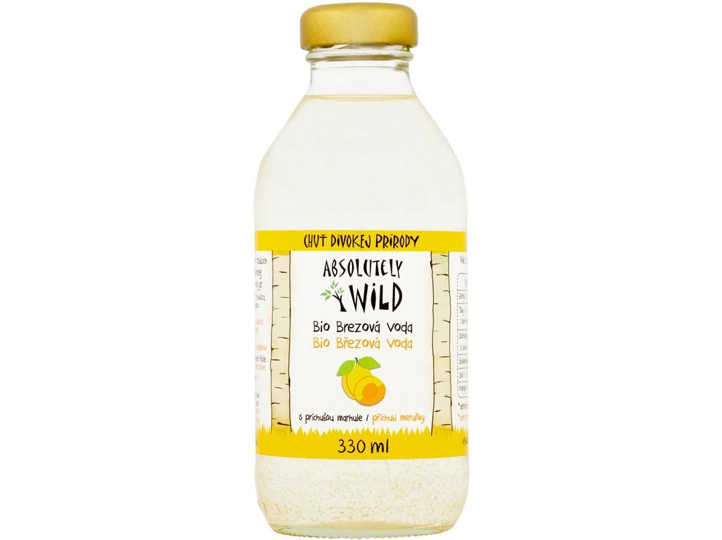 Absolutely Wild Bio Březová voda 99,1% meruňková bez cukru 330ml
