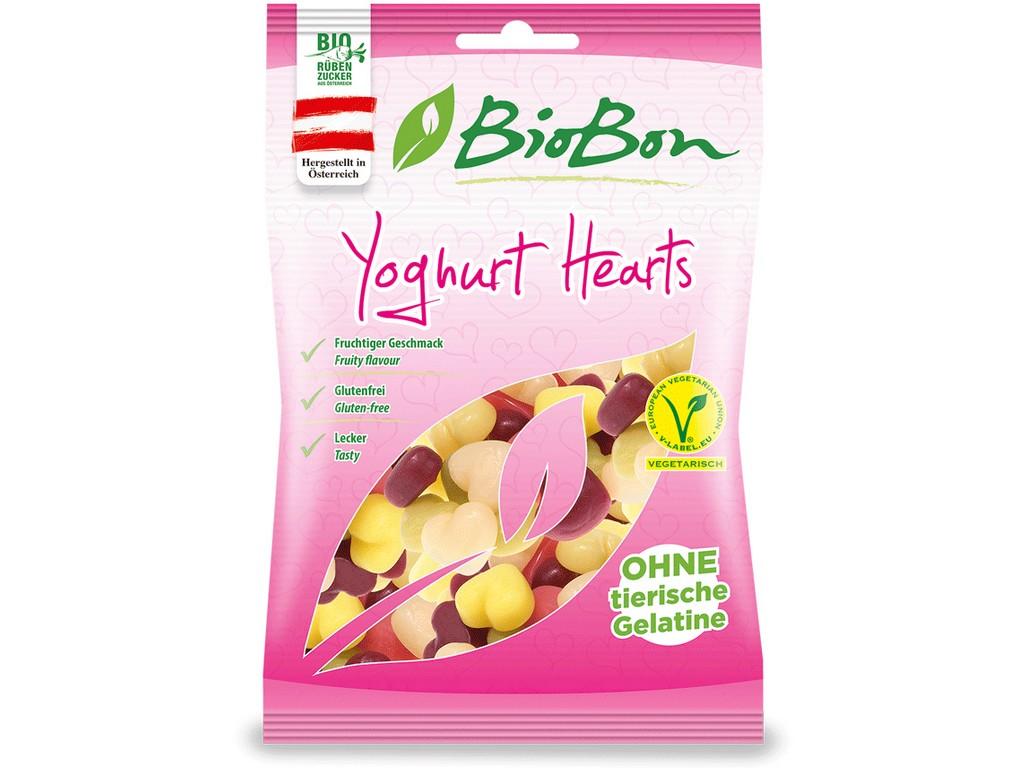 Bio Bonbóny jogurtové srdíčka bezlepkové bez želatiny 100g
