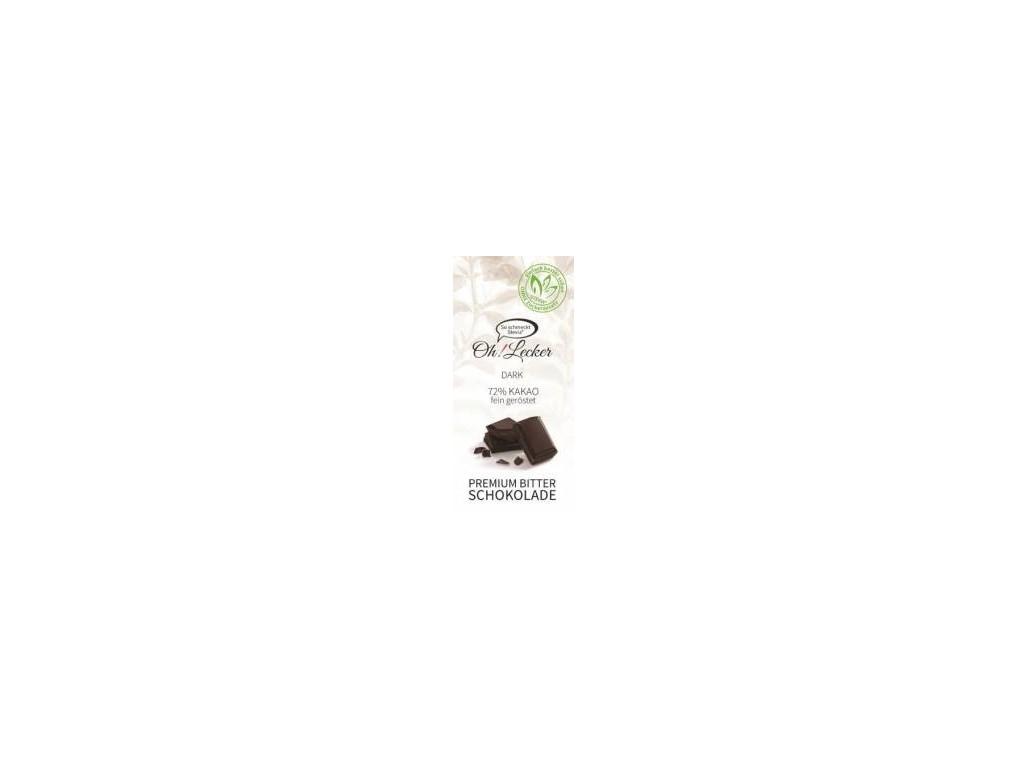 Meybona Čokoláda hořká 72% bez cukru 80g