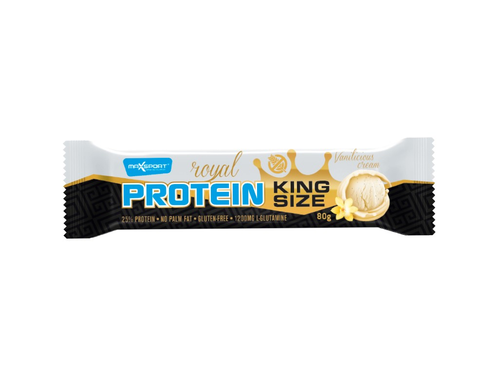 Max sport Tyčinka proteinová Royal protein Kingsize vanilka 80 g