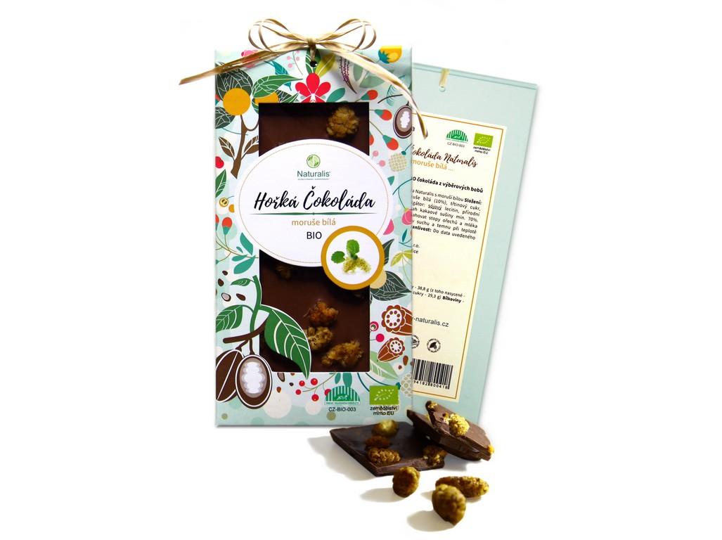 Naturalis Bio čokoláda s moruší - hořká 80g