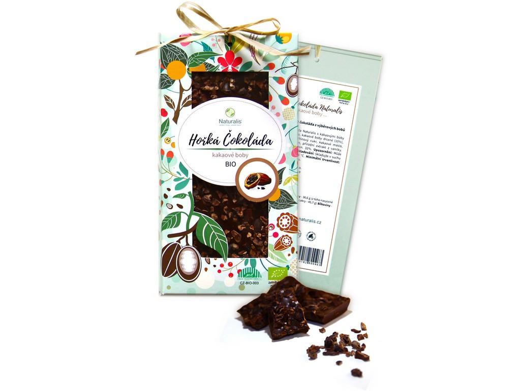 Naturalis Bio čokoláda s kakaovými boby - hořká 80g