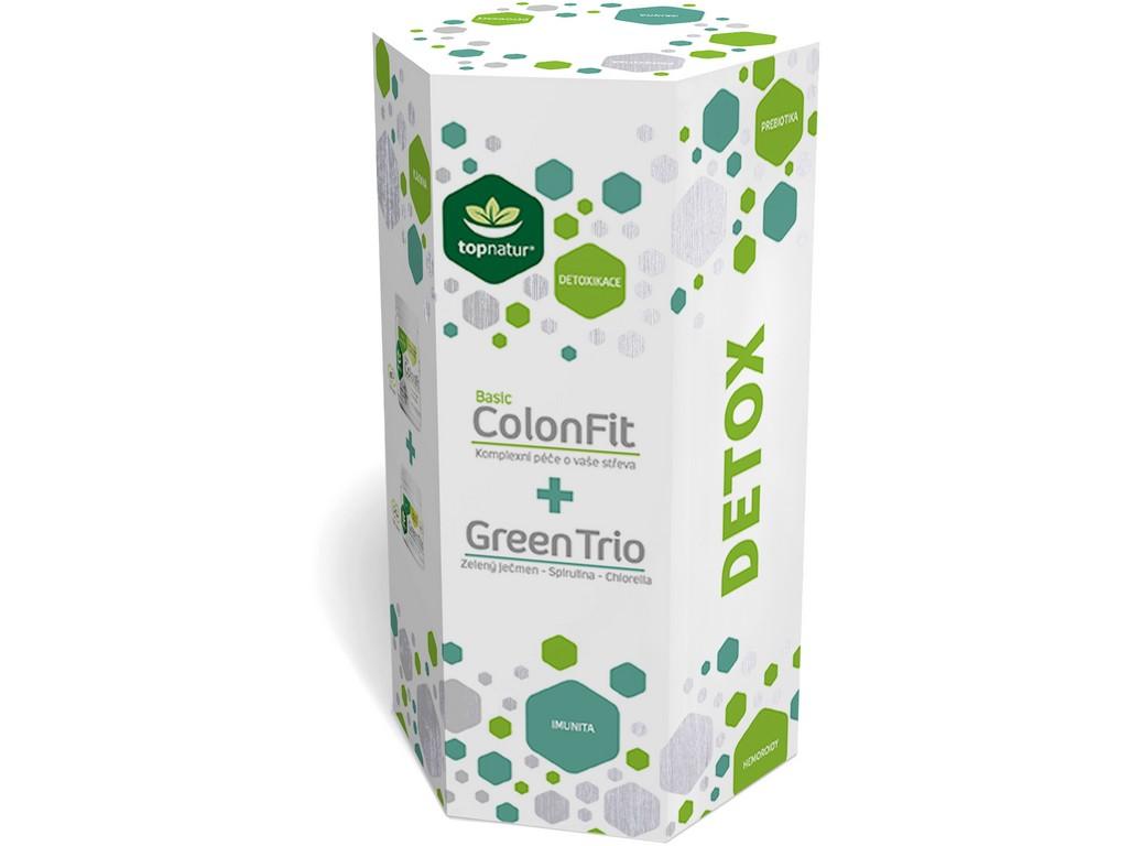 Topnatur Dárkové balení Colonfit + Green Trio 180cps+180cps