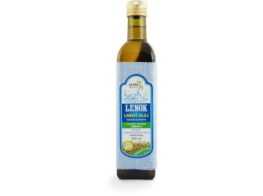 Extra olej.cz Lněný olej 500ml