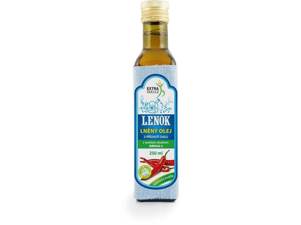 Extra olej.cz Lněný olej s příchutí chilli 250ml