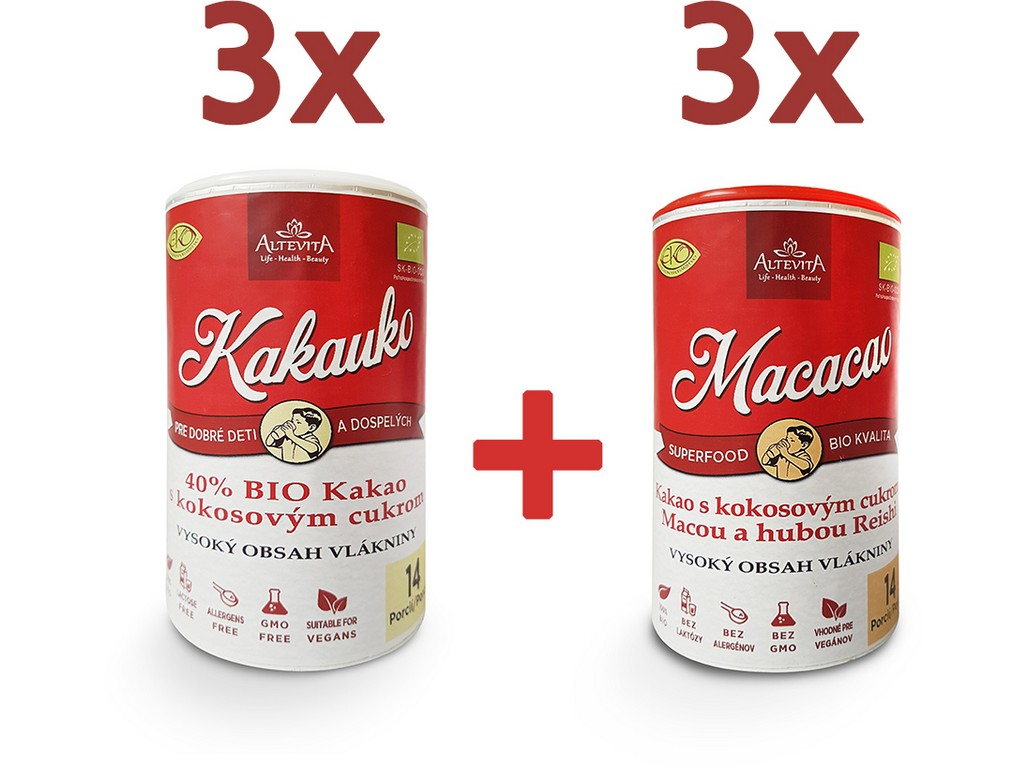 Altevita Akce 3x Kakauko a 3x Macacao se slevou 15%