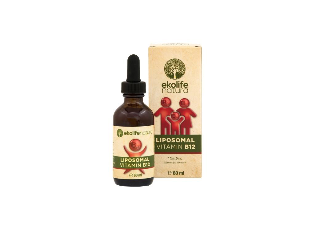 EKOLIFE NATURA Lipozomální vitamín B12, kapky 60ml