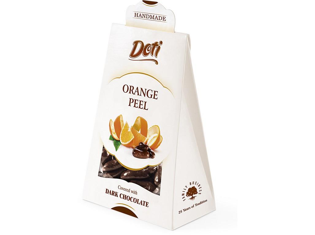 DOTI NATURAL Bio Pomerančová kůra v čokoládě - dárková taštička 100g