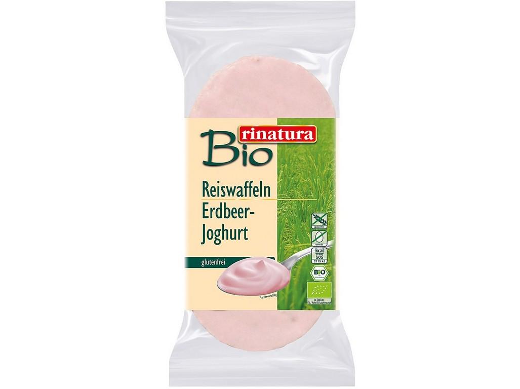 Rinatura Bio chlebíček rýžový s jogurtovou čokoládou a jahodovou příchutí 100g