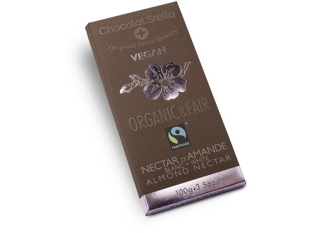 Stella Bio čokoláda bílá s mandlemi 100g