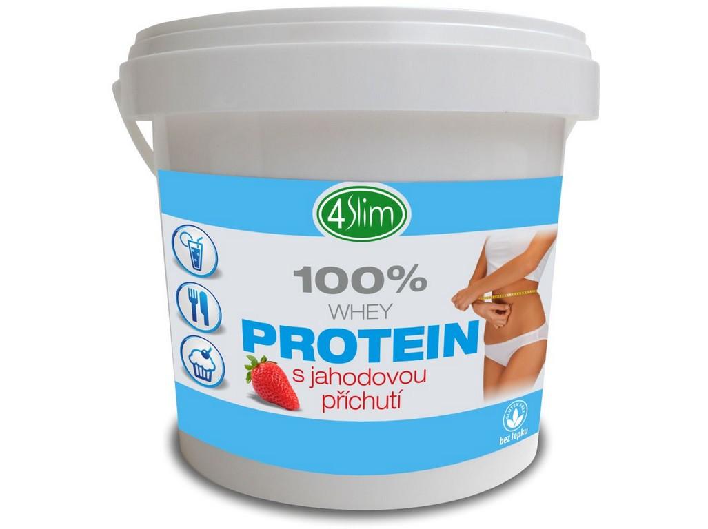 4Slim 100% WHEY protein jahoda 500g