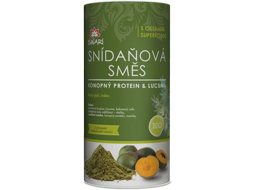 Iswari Bio snídaňová směs konopný protein & lucuma 800 g