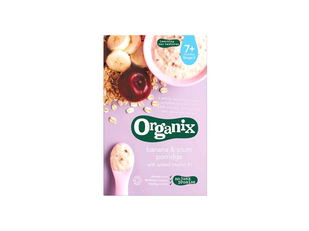 Organix Bio kaše s banány a švestkami 200g
