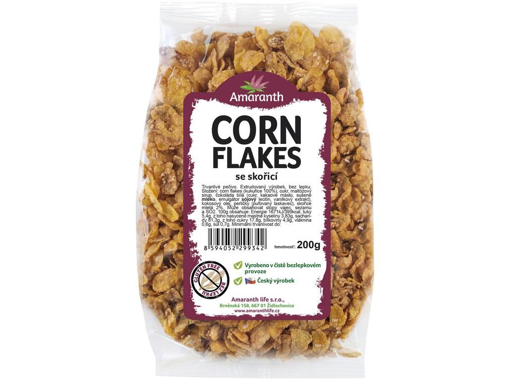 Amaranth life Corn flakes se skořicí 250g