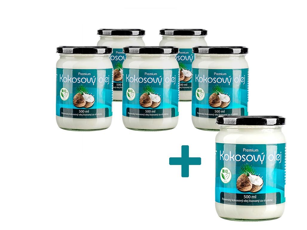 Allnature Bio Kokosový olej 500ml AKCE 5+1