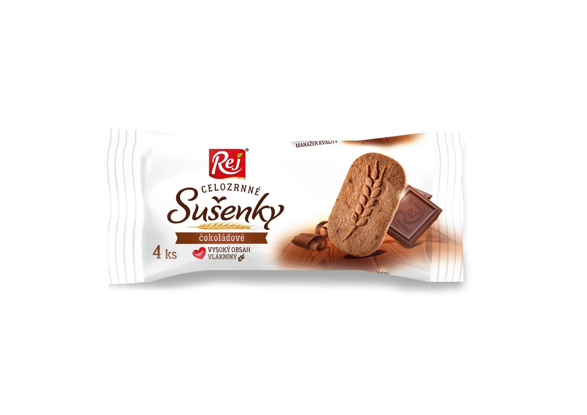 Rej Sušenky klasy celozrnné čokoládové 34g