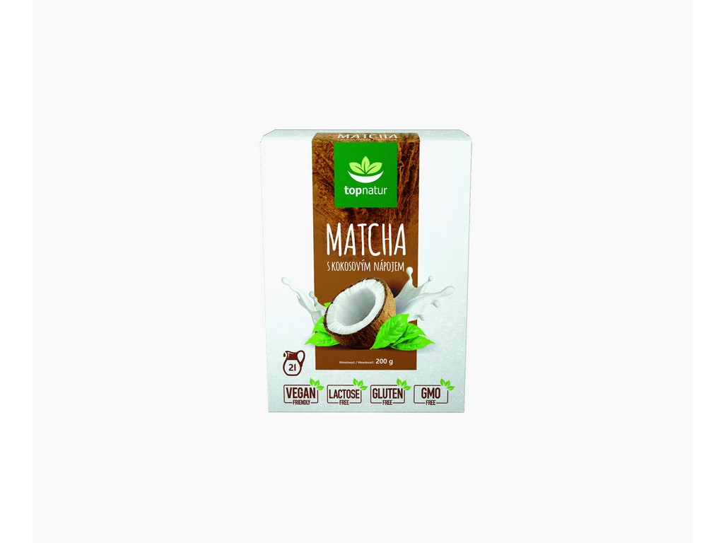 Topnatur Matcha s kokosovým nápojem 200g